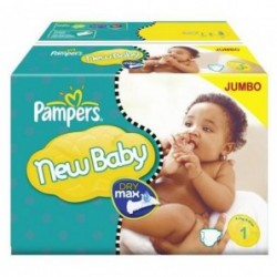 Mega pack 132 Couches Pampers Premium Protection taille 1 sur Choupinet
