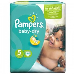 26 Couches Pampers Baby Dry taille 5 sur Choupinet