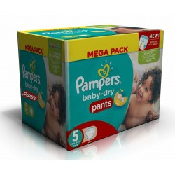 Pack jumeaux 576 Couches Pampers Baby Dry Pants taille 5 sur Choupinet