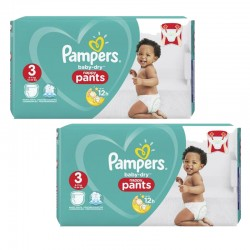 Giga pack 285 Couches Pampers Baby Dry Pants taille 3 sur Choupinet