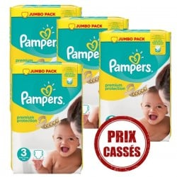 Mega pack 145 Couches Pampers Premium Protection taille 3 sur Choupinet
