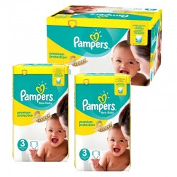 Giga pack 261 Couches Pampers Premium Protection taille 3 sur Choupinet