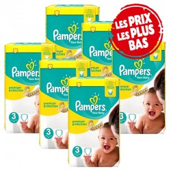 Pack jumeaux 522 Couches Pampers Premium Protection taille 3 sur Choupinet
