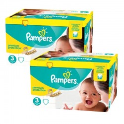 Pack jumeaux 580 Couches Pampers Premium Protection taille 3 sur Choupinet