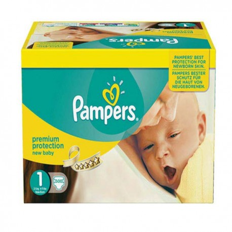 Mega pack 168 Couches Pampers Premium Protection taille 1 sur Choupinet