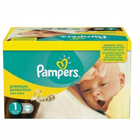 Giga pack 224 Couches Pampers Premium Protection taille 1 sur Choupinet
