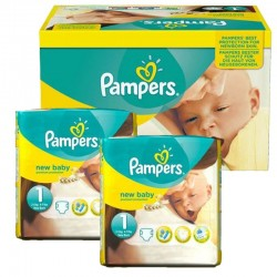 Maxi giga pack 336 Couches Pampers Premium Protection taille 1 sur Choupinet