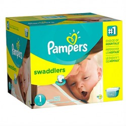 Maxi mega pack 448 Couches Pampers Premium Protection taille 1 sur Choupinet