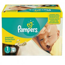 Pack jumeaux 504 Couches Pampers Premium Protection taille 1 sur Choupinet
