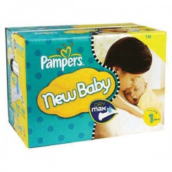 Pack jumeaux 672 Couches Pampers Premium Protection taille 1 sur Choupinet
