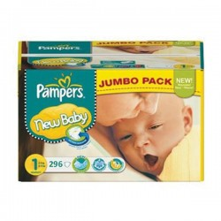 Pack jumeaux 728 Couches Pampers Premium Protection taille 1 sur Choupinet