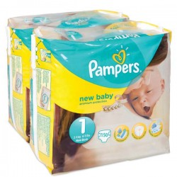 Pack jumeaux 896 Couches Pampers Premium Protection taille 1 sur Choupinet