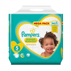 Pack 68 Couches Pampers Premium Protection taille 5 sur Choupinet