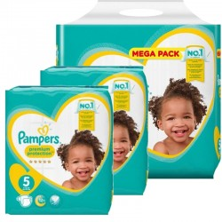 Mega pack 136 Couches Pampers Premium Protection taille 5 sur Choupinet