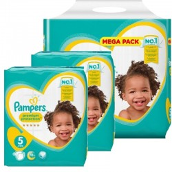 Maxi mega pack 408 Couches Pampers Premium Protection taille 5 sur Choupinet