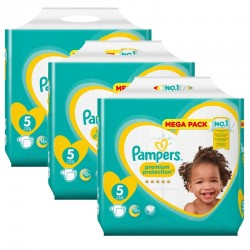 Pack jumeaux 612 Couches Pampers Premium Protection taille 5 sur Choupinet