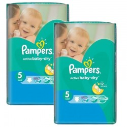 Pack 84 Couches Pampers Active Baby Dry taille 5
