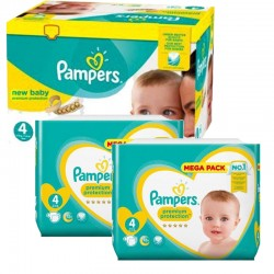 Giga pack 216 Couches Pampers Premium Protection taille 4 sur Choupinet