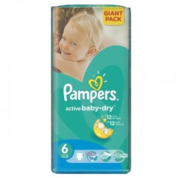 Pack 48 Couches Pampers Active Baby Dry taille 6 sur Choupinet