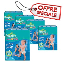 Maxi giga pack 384 Couches Pampers Active Baby Dry taille 6 sur Choupinet