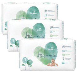 Pack jumeaux 612 Couches Pampers Harmonie taille 1 sur Choupinet