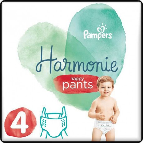 Pack 58 Couches Pampers Harmonie Pants taille 4 sur Choupinet