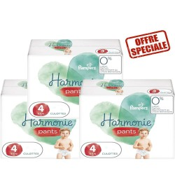 Mega pack 116 Couches Pampers Harmonie Pants taille 4 sur Choupinet