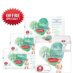 Maxi giga pack 348 Couches Pampers Harmonie Pants taille 4 sur Choupinet
