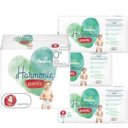 Maxi mega pack 406 Couches Pampers Harmonie Pants taille 4 sur Choupinet