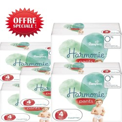 Pack jumeaux 522 Couches Pampers Harmonie Pants taille 4 sur Choupinet