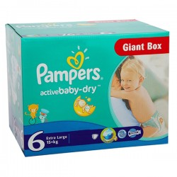 Giga Pack 144 couches Pampers Active Baby Dry sur Choupinet
