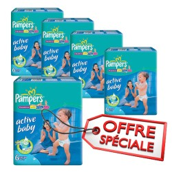 Mega pack 192 Couches Pampers Active Baby Dry sur Choupinet