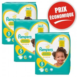 Pack 80 Couches Pampers Premium Protection taille 5