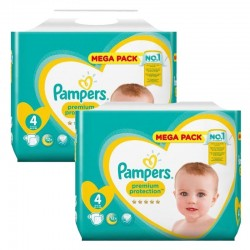 Pack 96 Couches Pampers Premium Protection taille 4 sur Choupinet