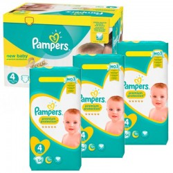 Giga pack 240 Couches Pampers Premium Protection taille 4 sur Choupinet