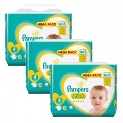 Maxi giga pack 336 Couches Pampers Premium Protection taille 4 sur Choupinet