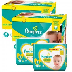 Maxi mega pack 408 Couches Pampers Premium Protection taille 4 sur Choupinet