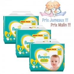 Maxi mega pack 480 Couches Pampers Premium Protection taille 4 sur Choupinet
