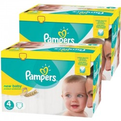 Pack jumeaux 552 Couches Pampers Premium Protection taille 4 sur Choupinet
