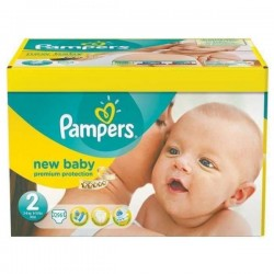 Giga pack 217 Couches Pampers Premium Protection taille 2 sur Choupinet