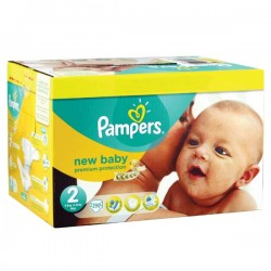 Giga pack 279 Couches Pampers Premium Protection taille 2 sur Choupinet