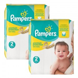 Maxi giga pack 372 Couches Pampers Premium Protection taille 2 sur Choupinet