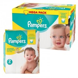 Maxi mega pack 403 Couches Pampers Premium Protection taille 2 sur Choupinet