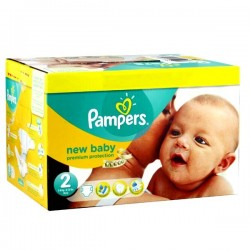 Maxi mega pack 496 Couches Pampers Premium Protection taille 2 sur Choupinet