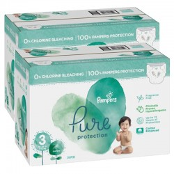 Pack 88 Couches Pampers Pure Protection taille 3 sur Choupinet
