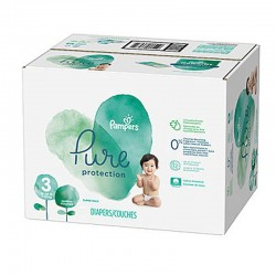 Mega pack 132 Couches Pampers Pure Protection taille 3 sur Choupinet