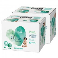 Mega pack 198 Couches Pampers Pure Protection taille 3 sur Choupinet