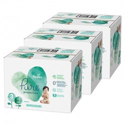 Giga pack 286 Couches Pampers Pure Protection taille 3 sur Choupinet