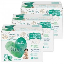 Maxi giga pack 308 Couches Pampers Pure Protection taille 3 sur Choupinet