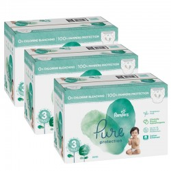 Maxi mega pack 418 Couches Pampers Pure Protection taille 3 sur Choupinet